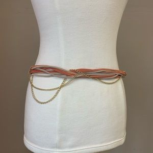 NWT ETCETERA leather chain belt